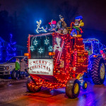 Illuminated farm equipment at Farmers' Festival of Lights thumbnail