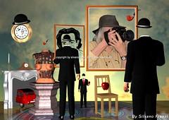«Magritte regarde Dalì… E moi» (Silvano Franzi) Tags: surrealism conceptual abstract mixedmedia abstractdigitalart art womens fineart phõtosgrápheinartist digitalart photomanipulation metaphysics surreal clock