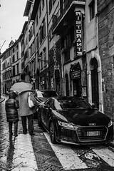 Street (shin4433) Tags: audi street rain b&w nikkor