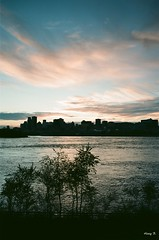 Sunset over Montreal (Hovig) Tags: montreal canada film ektar 100 analogue kodak 28mm voigtlander eos1n sunset skyline