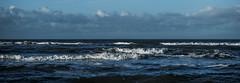 Waves (Wouter de Bruijn) Tags: fujifilm xt2 fujinonxf56mmf12r waves wave water sea beach coast seascape minimalist nature blue clouds sky outdoor oostkapelle veere walcheren zeeland nederland netherlands holland dutch bokeh depthoffield