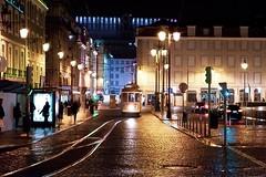 Street of Lisboa (joannab_photos) Tags: rainy tramway nightshot lights nightlife citytrip portugal lisbonne lisboa