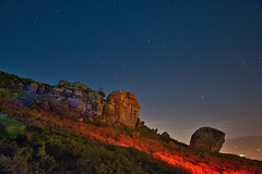 _0PC8216 (pcartermiet) Tags: rocks lightpainting night landscape outdoors cowandcalf ilkley nikon d810 quarry sky mountain grass stars