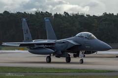 USAF, McDonnell Douglas F-15E Strike Eagle (97-0218/LN), 492nd FS/48th FW (mattmckie98) Tags: aircraft aviation airforce usaf us rafmildenhall military lakenheath nikon jet f15 fighter