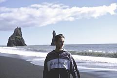 ____________________ (DaveyMorr) Tags: iceland beach blacksandbeach ocean waves reynisfjara travel environmentalportraiture portrait retro vintage film digital water sea hazy