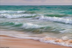 Ocean Waves Artistic Blur (Daniel Cadieux) Tags: ocean sea waves beach blue blues aqua slowshutterspeed blur artisticblur panning pan surf seaside