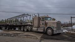 Kenworth W900 (NoVa Truck & Transport Photos) Tags: kenworth w900 wo grubb crane rental alexandria va flatbed big rig 18 wheeler truck