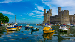 High Tide (JKmedia) Tags: northwales caernarfon wales boat bowwt staits water castle n15c boultonphotography 2018