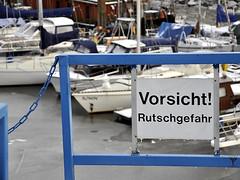Vorsicht Rutschgefahr. (robárt shake) Tags: rutschgefahr hohentorshafen bremen ship boat schiffe hafen harbor