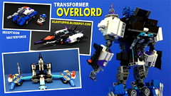 LEGO Transformer Overlord (alanyuppie) Tags: transformers lego military decepticon masterforce powermaster cybertron seibertron cartoon toy