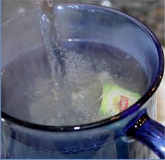 Steaming Green Tea - Macro Mondays - Brew (timeinabox) Tags: greentea brew macromondays cup teabag timeinabox