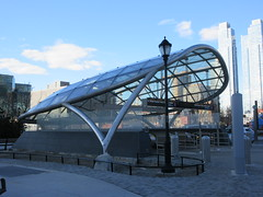 34th St Subway Station Entrance Jacob Javits Center 4175 (Brechtbug) Tags: 2019 march 34th st subway station entrance jacob javits convention center near hudson yards midtown manhattan new york city nyc 03172019 west side construction cityscape architecture urban landscape scape view cityview shadow silhouette close up skyline skyscraper railroad rail yard train amtrak tracks below grown buildings above patricks day saint patrick irish holiday