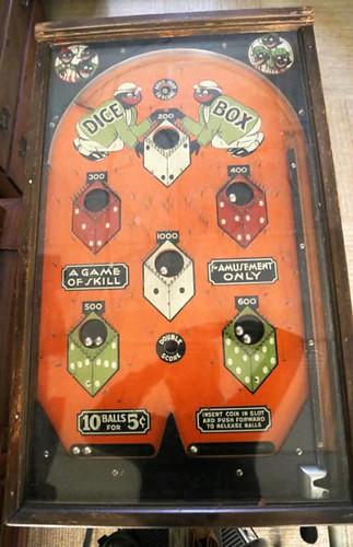 Dice Boy Black American pin ball machine ($756)