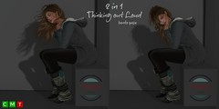 ♥ Thinking out loud (PosEd Poses) Tags: thinking out loud posed poses single bento sl secondlife ultra event avatar