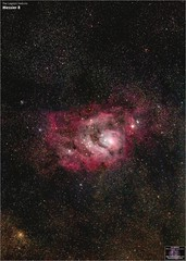 Messier 8 – The Lagoon Nebula in the Constellation Sagittarius (The Dark Side Observatory) Tags: tomwildoner night sky deepsky space outerspace skywatcher telescope 120ed celestron cgemdx asi190mc zwo astronomy astronomer science canon canon6d deepspace guided weatherly pennsylvania observatory darksideobservatory stars star tdsobservatory backyardeos earthskyscience m8 lagoonnebula nebula sagittarius