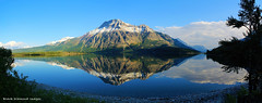 Vimy Peak Reflections & Mount Boswell in Upper Waterton Lake with Mount Cleveland in the far Distance, Waterton Lakes National Park, Alberta, Canada (Black Diamond Images) Tags: watertonlakesnationalpark watertonlakes waterton msice reflections vimypeak mountboswell watertonlake mountcleveland westernusatrip2018 canond60 1770 2018 microsoftimagecompositeeditor msicepanorama alberta watertonlakesnationalparkofcanada parcnationalducanadadeslacswaterton lakereflections canada mountain mountainside water snow landscape tree sky serene upperwatertonlakes lake upperwatertonlake travelalberta albertatravel albertaholiday holidayalberta