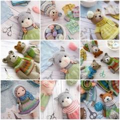 #2018bestnine (Mary Jane's TEAROOM) Tags: knittingpatterns maryjanestearoom knitteddolls knittedcats knittedbears knittedanimals sockyarn