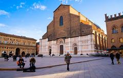 The Basilica of San Petronio, Bologna (alessio.vallero) Tags: architecture medieval piazzamaggiore piazza italy petronio church bologna