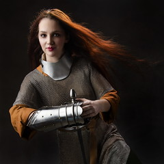 beautiful worrior girl (anj_p) Tags: lindsay worrior girl chainmail sword redhair