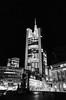 Frankfurt, Night View (rgiw) Tags: deutschland city street blackwhite bw schwarzweiss sw colour farbe stadt monochrome skyscraper wolkenkratzer strasse building gebäude ricohgrii hessen frankfurt blackandwhite bauwerk architektur architecture