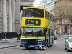 Dublin Bus RA291 (96D291). (Fred Dean Jnr) Tags: april2005 dublin dublinbus busathacliath dublinbusyellowbluelivery volvo olympian alexander r dublinbusroute50 ra291 96d291 collegegreendublin rend