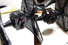 First Order TIE Fighter: Rounding Pic 2 (Evrant) Tags: lego star wars tie fighter starfighter first order custom moc spaceship starship ship evrant