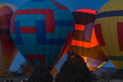 Balloon Glow (geophotocacher) Tags: aircraft albuquerque balloons christmas holidays mdrokkorx50f14 nm newmexico bluehour geophotocacher hotairballoons