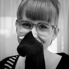 Beautiful portraiture (diannerobbins1) Tags: 40mm28 40mm nikon glasses laugh smile blackandwhiteportrait blackandwhitephotography beauty beautiful portraiture portrait