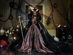 Mrs. Krampus (davidbocci.es/refugiorosa) Tags: krampus christmas bad barbie mattel fashion doll muñeca refugio rosa david bocci ooak lavinia legend fantasy horns