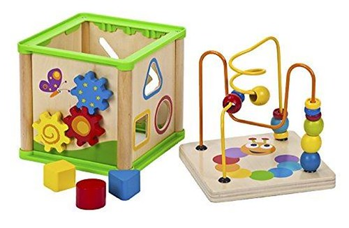 Exciting 30% OFF Amazon Discount On 5 In 1 Activity Cube Wooden Toy Abacus Learning Toys