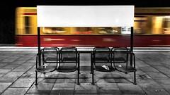 A white board for your thoughts. (ANBerlin) Tags: toaster db480 strasenfotografie streetphotography stadtansichten cityscape städtisch urban stadt city nacht night abstrakt abstract ausergewöhnlich extraordinary biancoenero noiretblanc schwarzweis blackwhite architektur architecture sbahn suburbantrain zug train bahnhof station bahnsteig platform infrastruktur infrastructure bank seat bench selective selektiv farbspritzer colorsplash spritzer splash akzent accent schlüsselfarbe keycolor singlecolor deutschland germany berlin prenzlauerberg greifswalderstrase motionblur bewegung moving verschwommen blurred bewegungsunschärfe anb030 shotoniphone iphotography iphonography 8plus iphone8 iphone apple