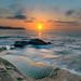 Sunrise Seascape with Clouds (Merrillie) Tags: daybreak sunrise nature dawn paullandareserve landscape centralcoast morning sea newsouthwales rocks pearlbeach nsw waterscape rocky ocean earlymorning water waves coastal clouds outdoors seascape australia coast sky seaside abigfave