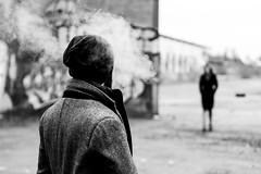 La derniere rencontre I (erictrehet) Tags: noir nikon noiretblanc bretagne blanc black fx extérieur white winter monochrome lumière light homme fullframe france d610 portrait personne illeetvilaine