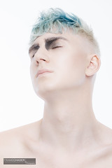Philipp Look I / 3 (FrameChaser) Tags: hair handsome boy man male portrait nude twink color haircoloring eyes blue makeup fineart studio highkey nikon d850 gay retouching postproduction beauty hairstyle hairdresser