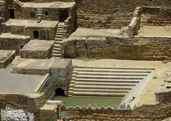 Water Cistern In Hababa, Yemen (Eric Lafforgue) Tags: arabia arabiafelix arabianpeninsula architectural architecture cistern colourpicture day drinkingwater drought highangleview historical history horizontal nopeople placeofinterest pool stairs step water yemen img1642 hababa