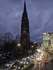 St. Nikolai Memorial on Willy Brandt Strasse (Dragonsilk) Tags: hamburg germany st nikolai