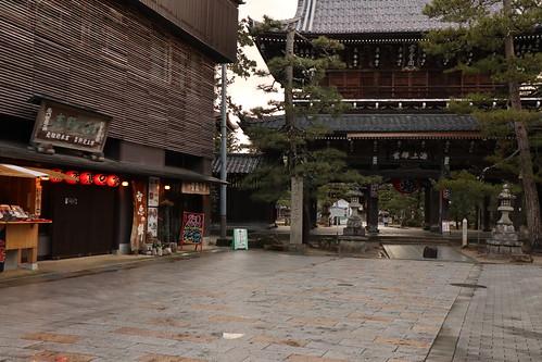 寺院のある町