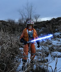 Red Five (chevy2who) Tags: starwarsblackseries series black skywalker luke toyphotography toy figure action starwars