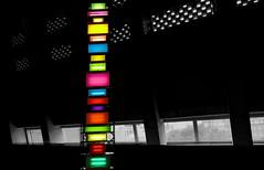 ..... colourful & black ..... (christikren) Tags: london colour art exhibition christikren tategalleryofmodernart tatemodern davidbatchelor panasonic black light abstract