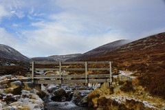 Bridge in the Highlands (steve_whitmarsh) Tags: landscape aberdeenshire scotland scottishhighlands highlands mountain hills bridge fence glen topic