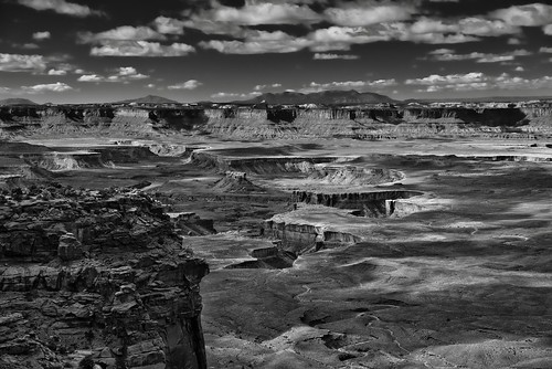 The Green River Flowing Through Canyonlands National Park (Black & White)