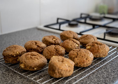 Midweek baking... (aljones27) Tags: bake baking scone scones rack cooling kitchen