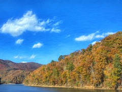 Lake View 33 (Steve4343) Tags: steve4343 nikon 7200 appalachian trail cherokee national forest red green blue yellow orange white clouds sky beautiful tennessee autumn beauty county lake watauga cloud colorful woods garden gardens happy leaves rocks wildlife landscape mountain tree trees grass water wood summer spring macro flower flowers at 33 carter channel hampton