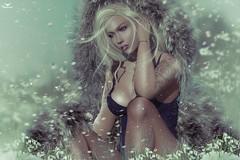 Toya~WinterMeadow (Skip Staheli *10 YEARS SL PHOTOGRAPHER*) Tags: toya toyabailey winter snow snowflakes snowdrop meadow fur skipstaheli secondlife sl avatar virtualworld dreamy digitalpainting fantasy sexy sensual soft cold