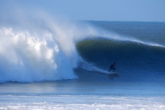 Photo of Surfing Large Wave Croyde Bay