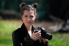 A Girl with Camera (Sebastian Pier Filip) Tags: victoria canon 5d bulgaria portrait bokeh sharp canonef70200 f28 canonllens girl 200mm