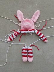 A future Olivia inspired crochet pig (crochetbug13) Tags: crochetpig amigurumipig olivia crochetstripes crochet crocheted crocheting