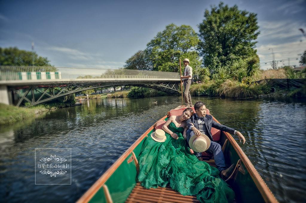 南島基督城,雅芳河Avon River, 紐西蘭(新西蘭)NEW ZEALAND海外婚紗,泛舟婚紗