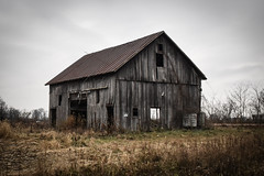 Old Barn (tim.perdue) Tags: old barn rustic abandoned empty rural decay country farm field dilapidated deserted faded crumbling disintegration marion county ohio route 4 rotting wood nikon d5600 nikkor 18140mm grass trees bare winter
