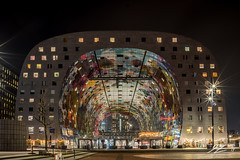 Quantum Tunnel (TVZ Photography) Tags: hdr highdynamicrange markthal markethall architecture building rotterdam city streetlights netherlands holland night evening longexposure lowlight sonya7riii zeiss loxia 21mm